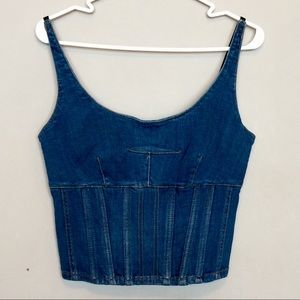 Anthropologie | Maeve Denim Crop Top NWT